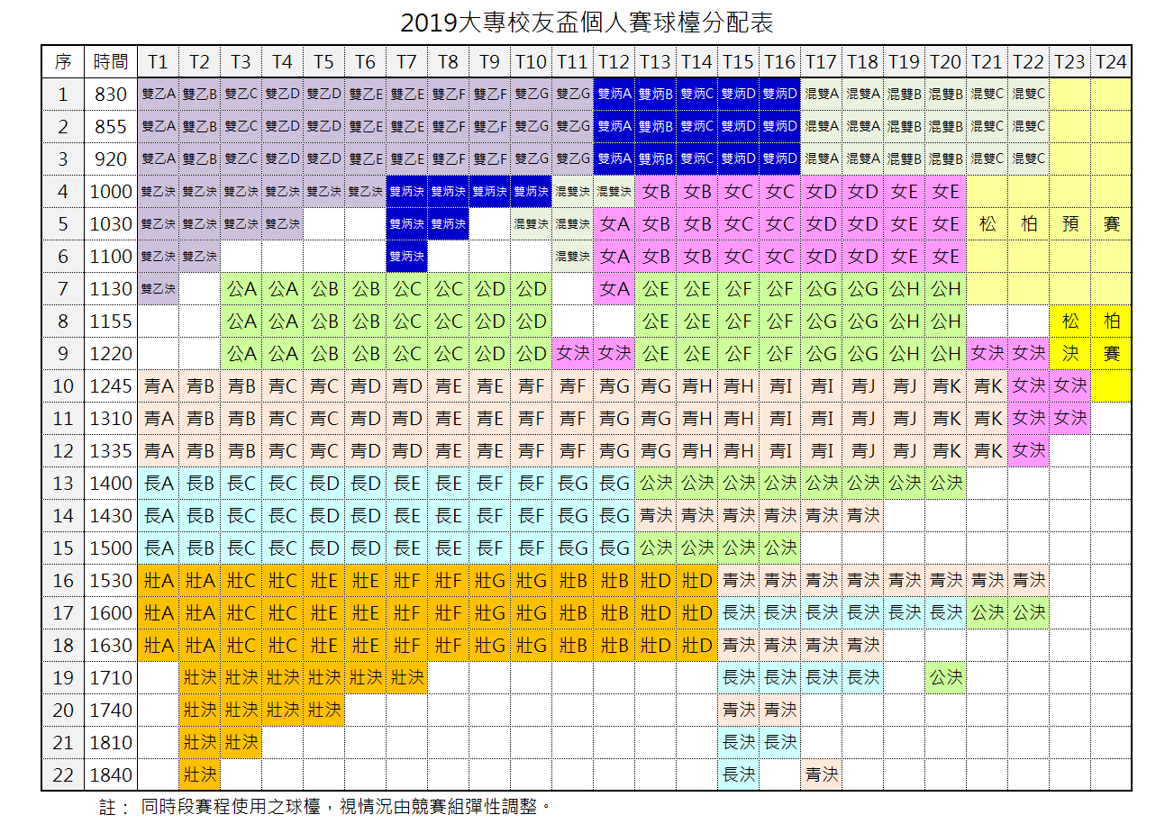 20190519Singles_Time-table